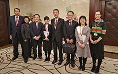 「市長、議長と北京事務所職員」