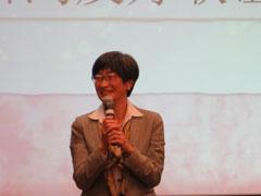 新潟市観光・国際交流部 石塚里栄子部長 篠田市長のビデオメッセージを携えあいさつ