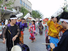 中央大街でのパレード