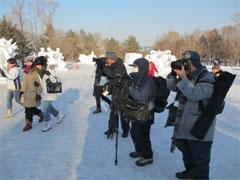 ハルビン写真愛好家の案内のもと 氷の彫像撮影会