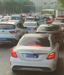 北京にある他地域ナンバーの車両