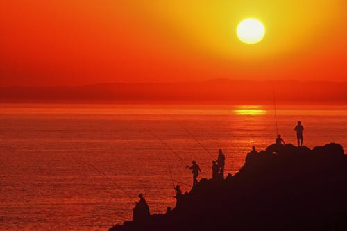 日本海夕阳